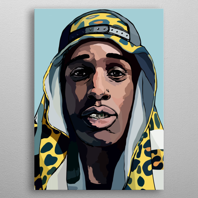 ASAP Rocky Design Just For Hip-hop Lovers Everywhere. metal poster