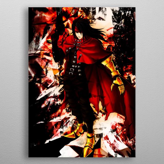 Vincent Valentine Artwork metal poster