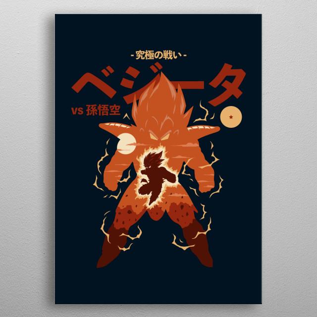 DB Ultimate Battle Series, Vegeta vs Son Goku. metal poster