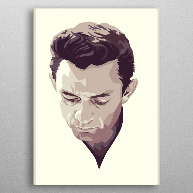Johnny Cash Design Just For Johnny-cash Lovers Everywhere. metal poster