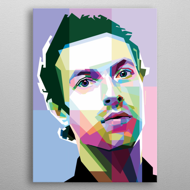 Chris martin Design Just For Music Lovers. metal poster