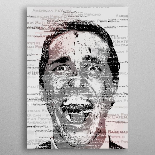 American psycho Design Just For Movie Lovers. metal poster