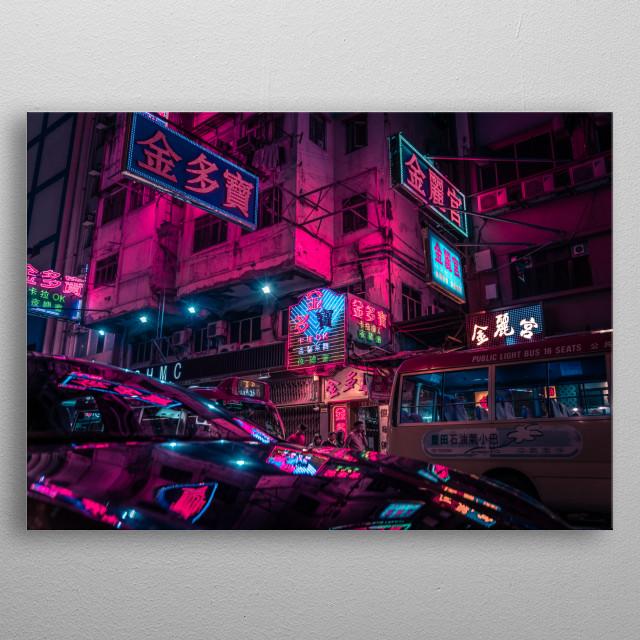 Hongkong,(Mong Kok) metal poster
