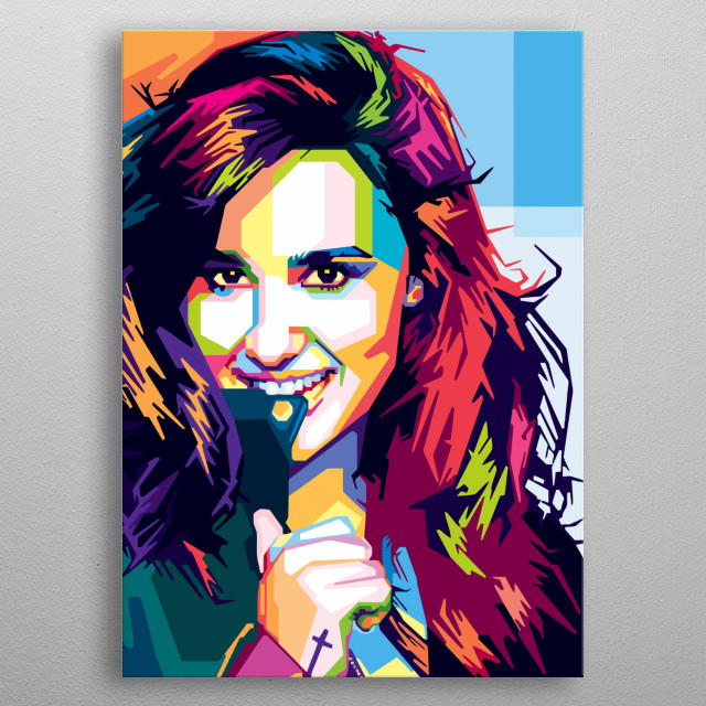 Demi Lovato Design Just For Demi Lovers Everywhere. metal poster