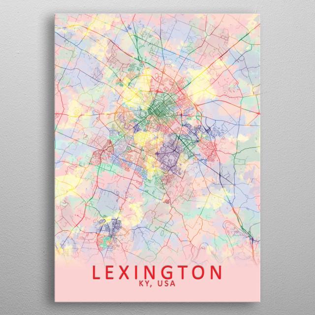 Lexington KY USA City Map metal poster