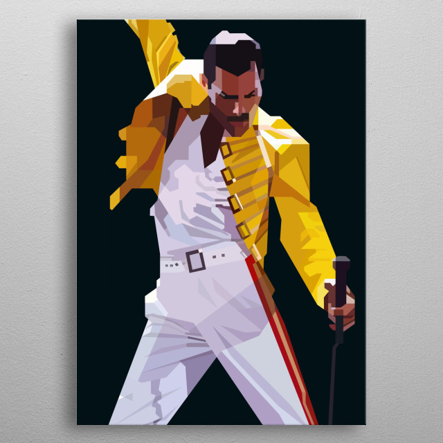 Freddie Design Just For Queen Lovers Everywhere.  metal poster
