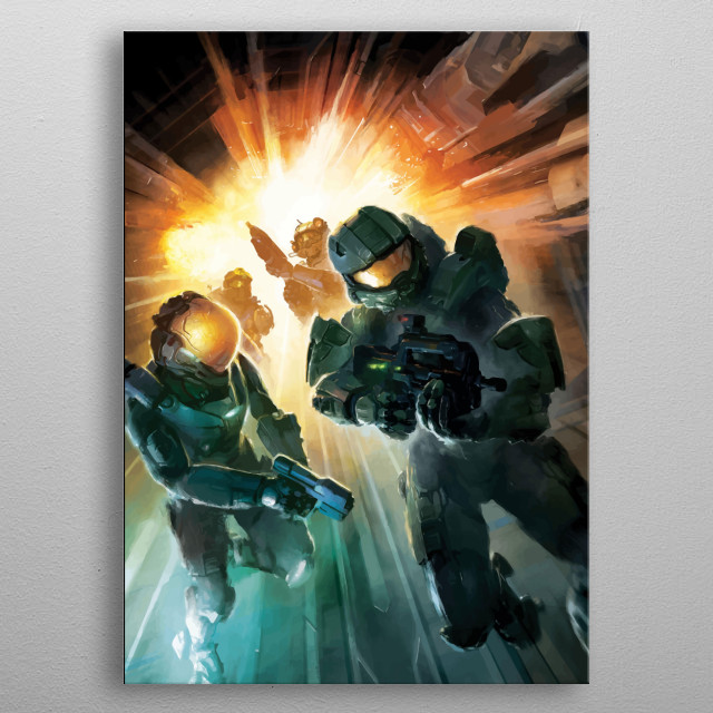 Halo Design Just For The Game Lovers. metal poster