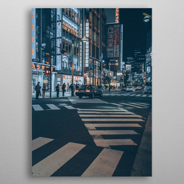 Part of my Nightscapes Collection. Check out my profile for more of Japan!   metal poster