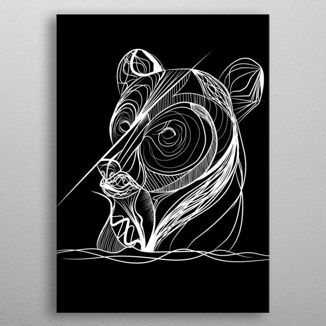 Let the lines flow                                                                                                                         . metal poster