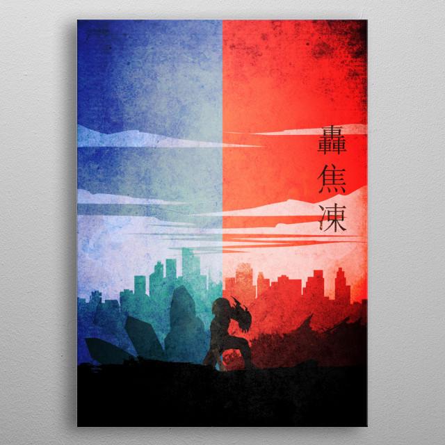 Shouto todoroki - my hero academia metal poster