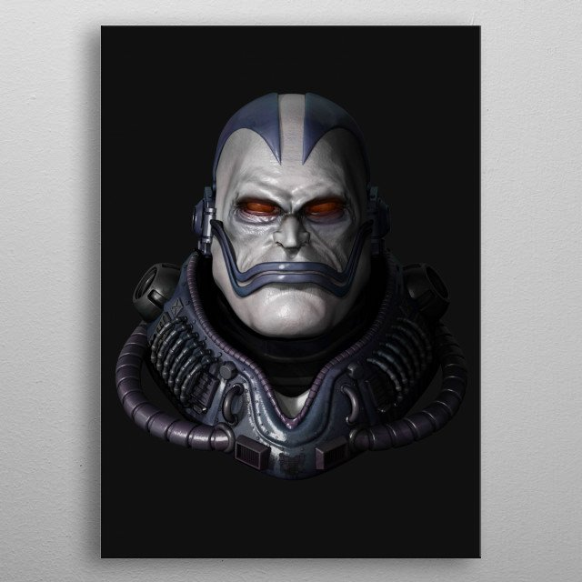 """En Sabah Nur - world's first mutant.  Also known as """"The Apocalypse"""" Sculpted in Zbrush  Rendered in Zbrush renderpass metal poster"""