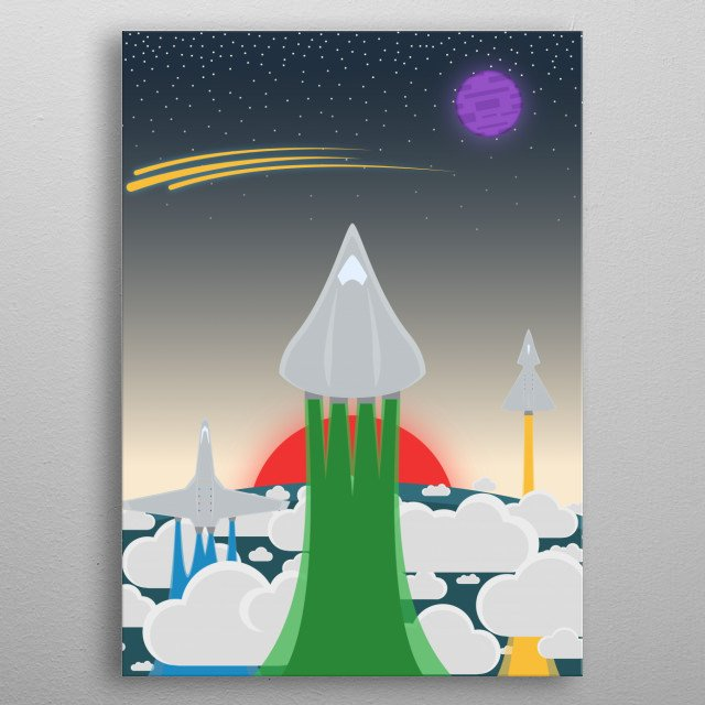 Let's set off to distant stars and explore the cosmos.  metal poster