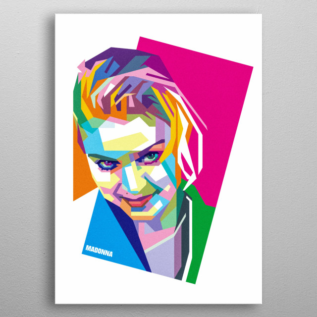 wpap vector illustration of madonna, an American singer-songwriter, actress and businesswoman metal poster