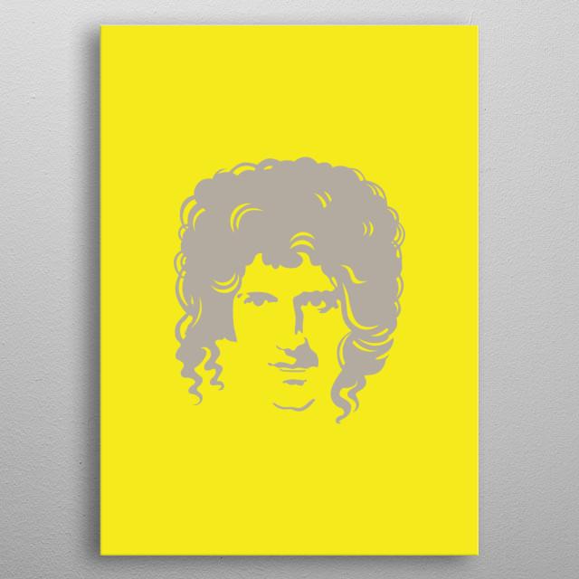Brian May Pop Art by Andi Permana | metal posters - Displate