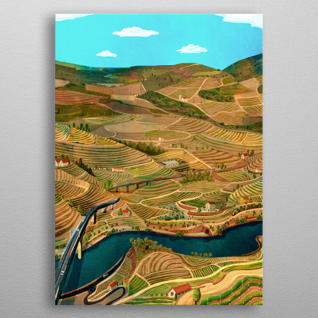 Portugal, Douro Valley  metal poster