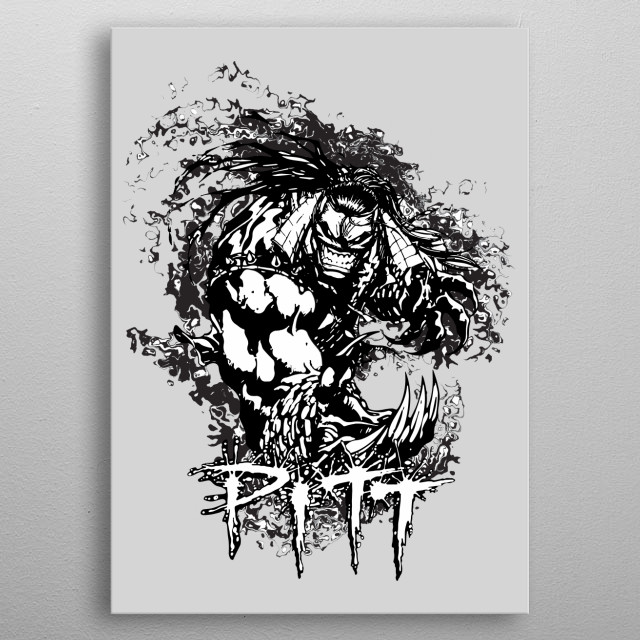 Artwork inspired by the comic Pitt. metal poster