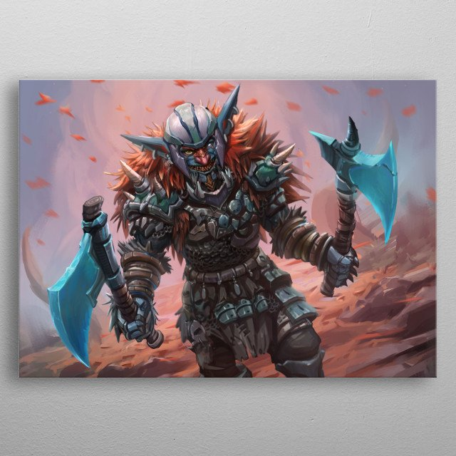 Goblins Are Weaklings .That's the common sense in the world . But Not with Kra. He's the Strongest Goblin in the world . The Trongest Master metal poster