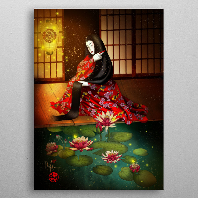 Hotaru no Hikari - The light of the firefly metal poster