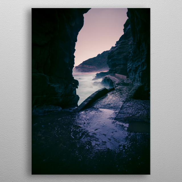 Thompsons Beach, Durban, South Africa | Image by Chantelle Flores   metal poster