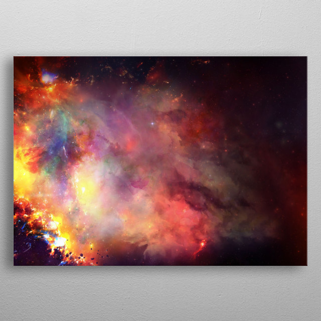 Space metal poster