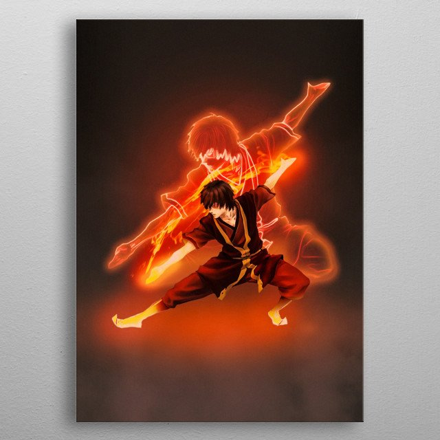 Poster of Zuko from Avatar that I made. metal poster
