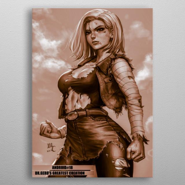 NICE BROWN COLOR metal poster
