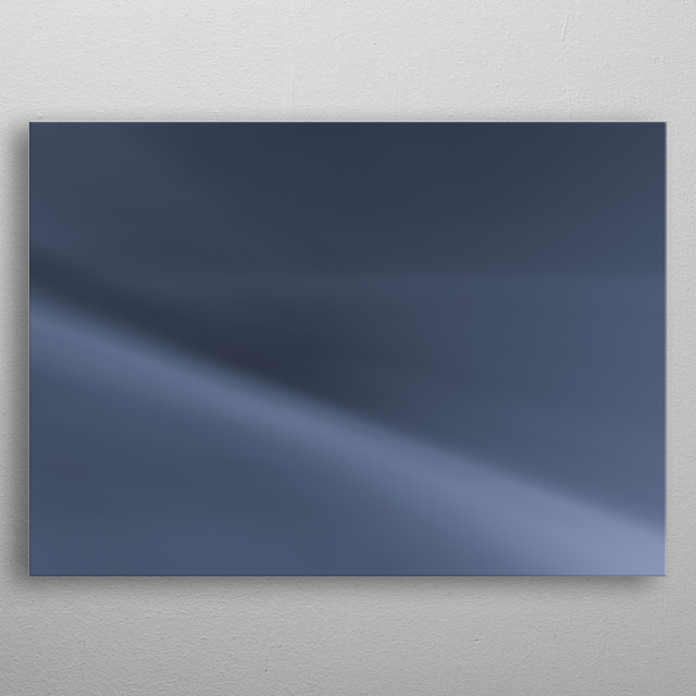Abstract storm in the ocean metal poster