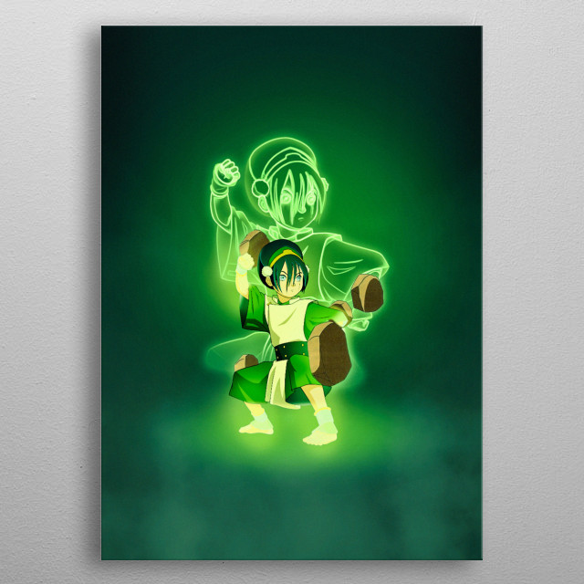 Toph from Avatar the Last Airbender metal poster