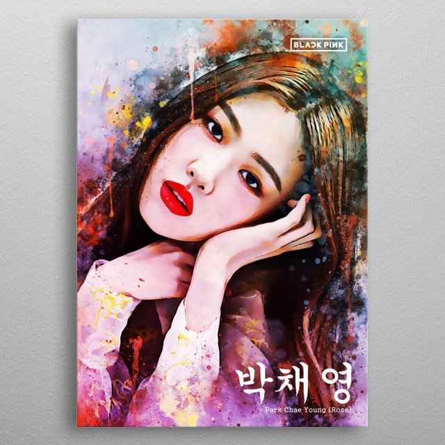 Roseanne Park is a Korean female singer. She is known for being a member of Blackpink. metal poster