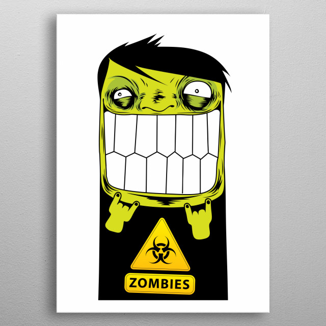 Zombie Art Print metal poster