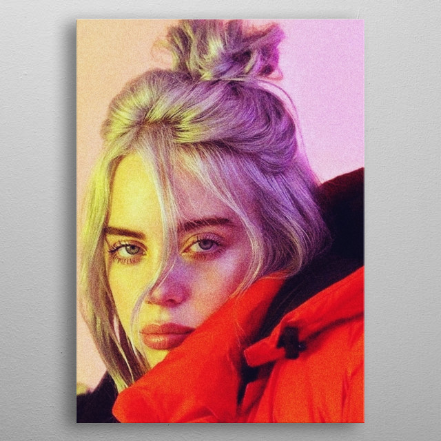 Billie Eilish for a cover. metal poster