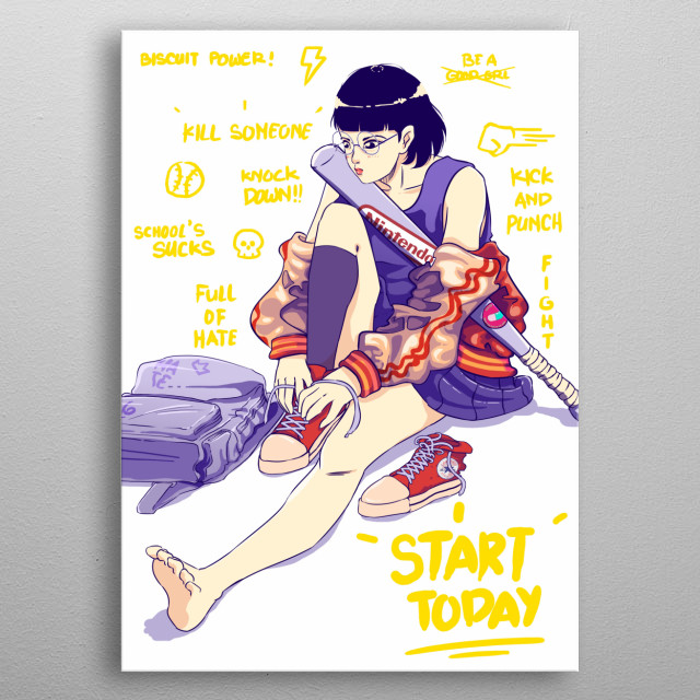 start today with anger metal poster