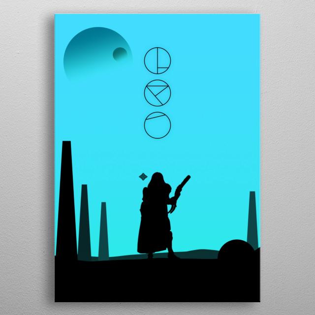 Trials of the Nine Hunter metal poster