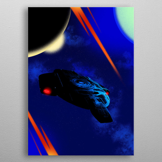 USS Defiant metal poster