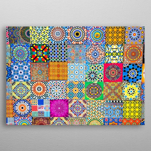 Patterns of Morocco | Image by Chantelle Flores  metal poster