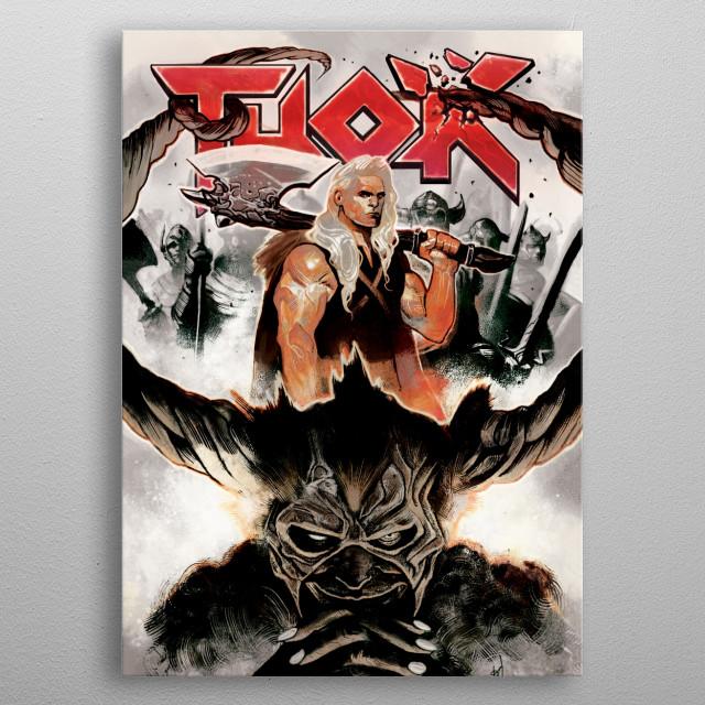 Thor the Hero metal poster