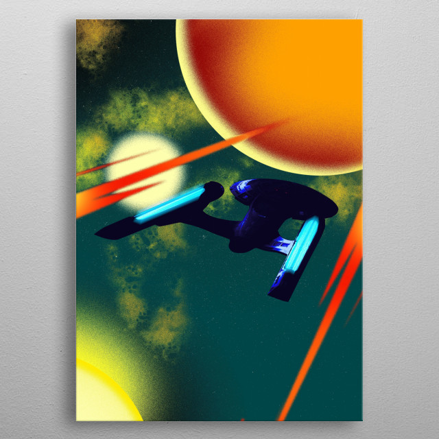 USS Enterprise E metal poster