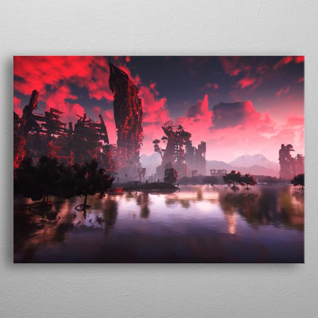 Photos from Horizon Zero Dawn. metal poster