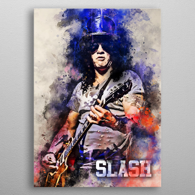Slash is a British–American musician and songwriter.[1] He is the lead guitarist of the American hard rock band Guns N' Roses, metal poster
