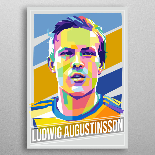 Swedish professional footballer who plays for Werder Bremen as a left-back. metal poster