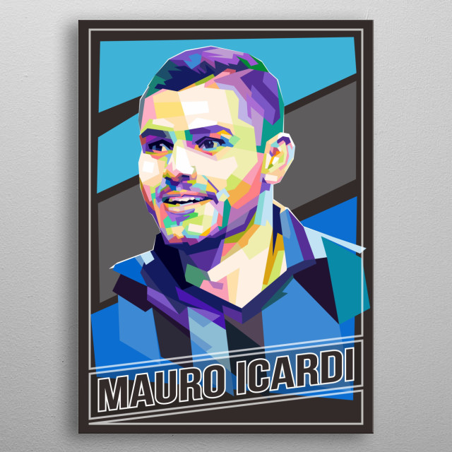 Argentine professional footballer who plays as a striker for Italian club Inter Milan and the Argentina national team. metal poster