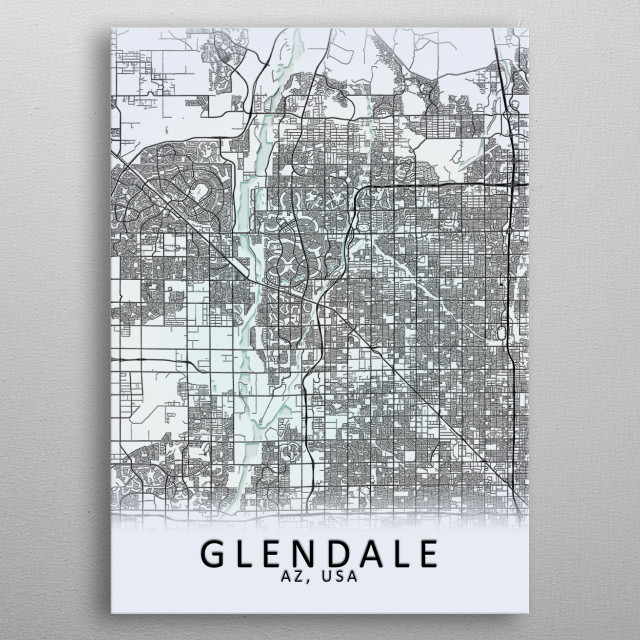 High-quality metal print from amazing Black On White City Maps collection will bring unique style to your space and will show off your personality. metal poster