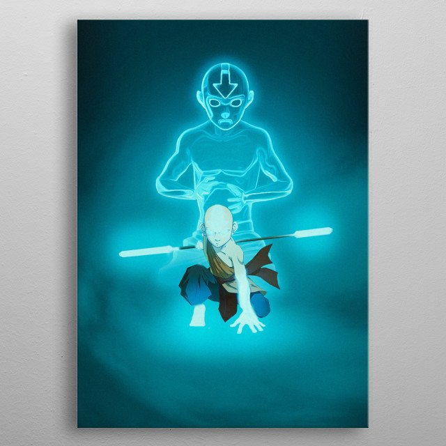 Spirit Poster of Aang from Avatar the Last Airbender metal poster