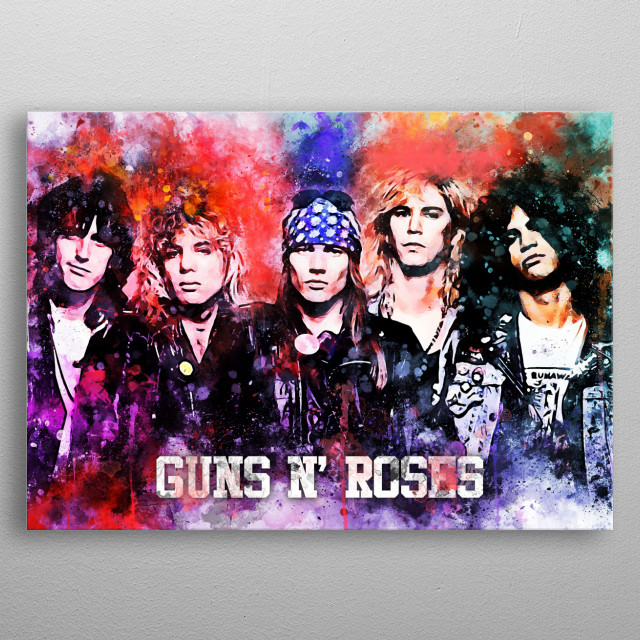 GNR is an American hard rock band from Los Angeles, California, formed in 1985.  metal poster