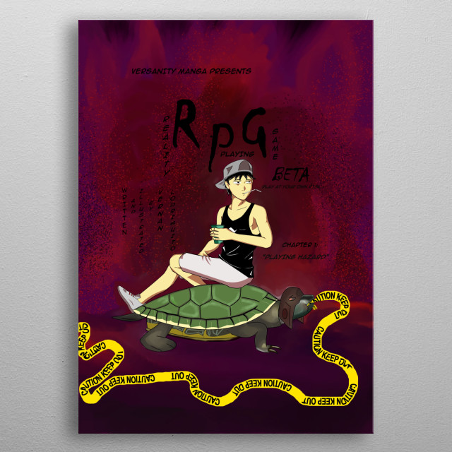 RPG beta Manga cover page. metal poster