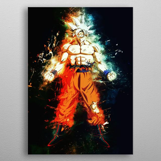 Goku Mastered Ultra Instinct Dragonball metal poster