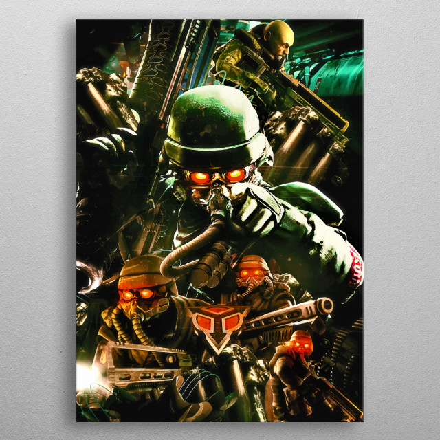 Killzone 1 ultimate poster tribute for this long time cult classic launched in early 2000 for the playstation 2. metal poster