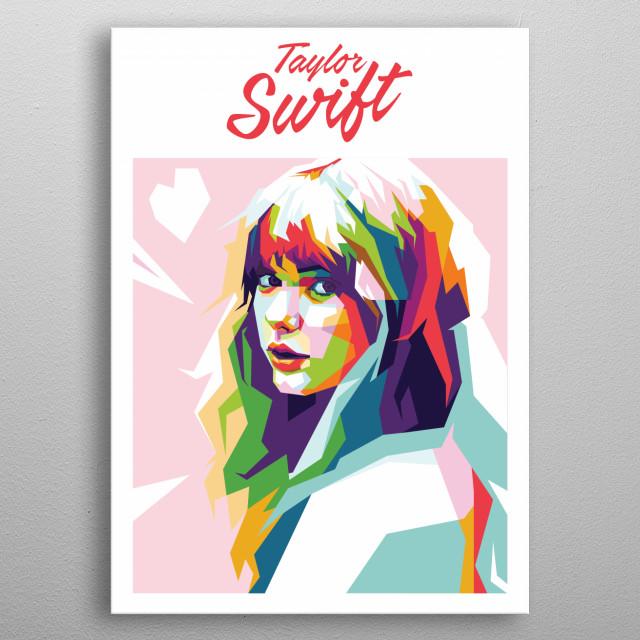 Taylor swift in WPAP Popart metal poster