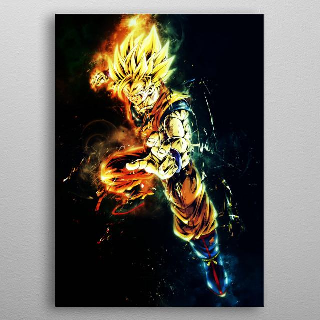 Goku ssj SUPER SAIYAN Dragonball metal poster