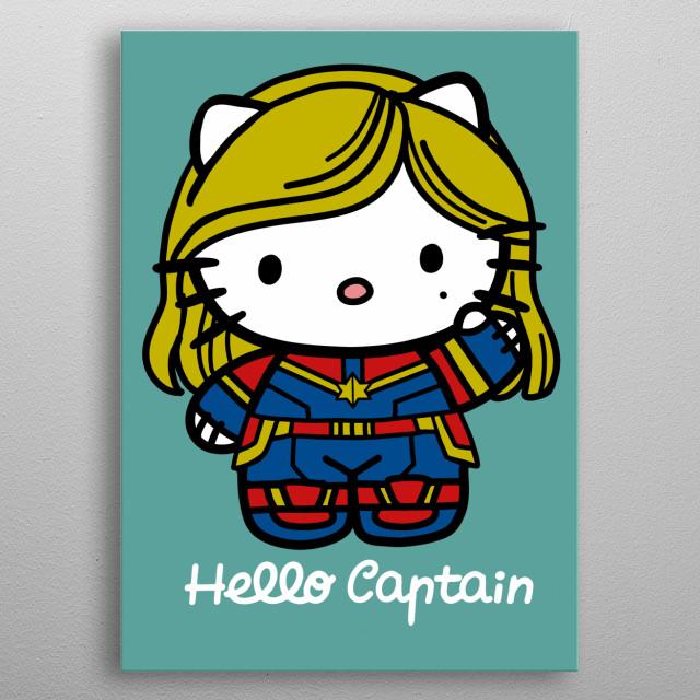 Hello Captain metal poster